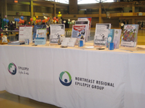 Northeast Regional Epilepsy Group and Epilepsy Lifelinks booth