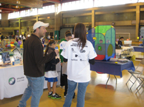 Our epilepsy booth all set up at the Autism Speaks 2010
