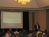 Dr. Marcelo Lancman speaks at the epilepsy conference