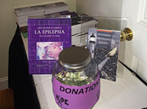 Donation bucket for epilepsy foundation