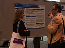 Dr. Lorna Myers at her poster