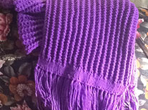 Purple poncho raises awareness for epilepsy