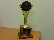 Trophy for donations collected by Northeast Regional Epilepsy group
