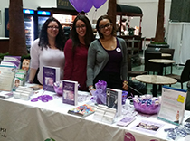 Danielle, Melissa and Nelly hosting epilepsy awareness