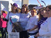 Lorna Myers, Kim, Bridget, Shelby and Gail walked for epilepsy
