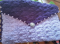 Gorgeous purple purse for epilepsy is raffled