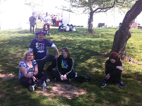Part of team NEREG resting after the walk