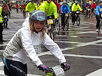 Dr. Myers rode through the rain to raise funds for Epilepsy Free