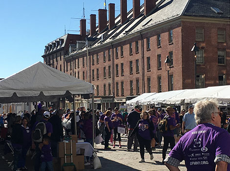 Epilepsy Walk booths lined the way