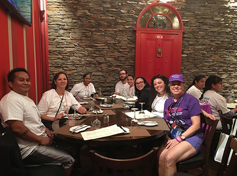 Lunch with Dr. Paolicchi after the epilepsy walk