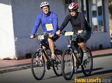 Drs. Eric and Olga Segal pedaled down the shore