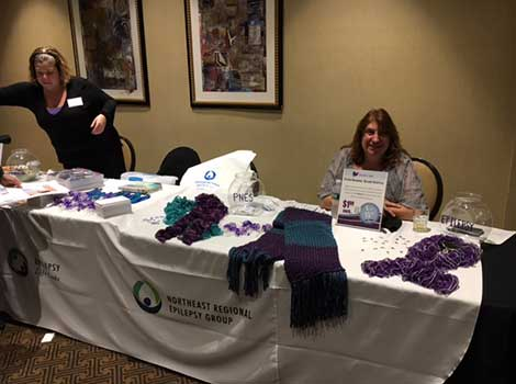 Epilepsy and seizures giveaways booth