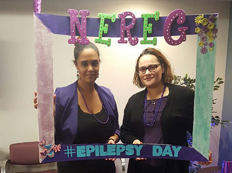 NEREG staff went all out for epilepsy day