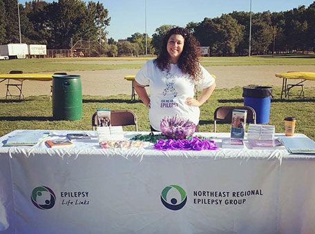 Danielle Carollo staffed our epilepsy booth at a New Jersey Brain Fair