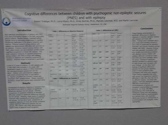 Poster on Children with PNES and epilepsy: cognitive differences