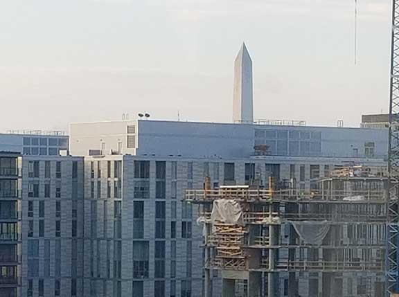 Washington Monument seen from epilepsy convention