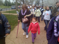 Mary and Danika-walking for epilepsy