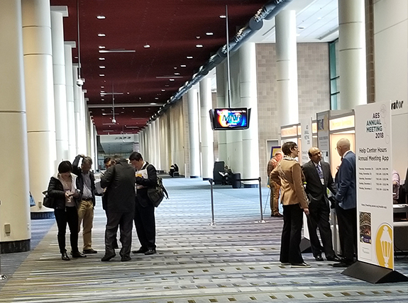 Convention Center on epilepsy meeting opening day