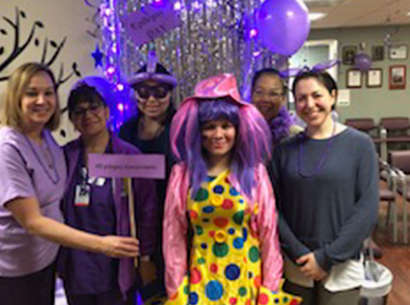 The whole office participated in International Epilepsy Day