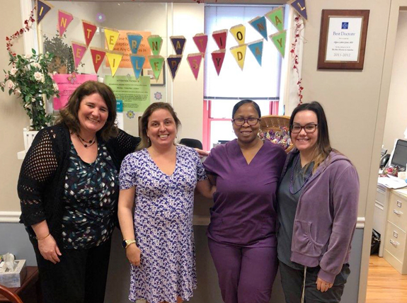 Kim, Lillie,  Sonya, Kelsey on International Epilepsy Day