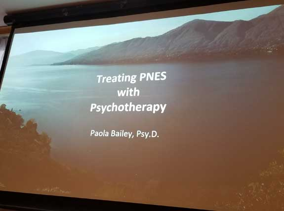 Psychogenic nonepileptic seizures conference lecture