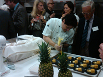 Chefs worked tirelessly at the Anita Kaufman event