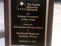Distinguished Service award 2011 for Northeast Regional Epilepsy Group