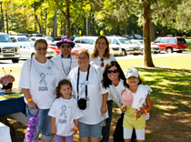 Team Epilepsy Group-captain Kim Politsky, Mary, Michael, Fran, Danika, Lorna, and Ms. Feoli
