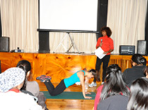 Renata Joy, certified personal trainer teaches safe mat exercises