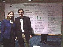 Drs. Lancman and Myers at the poster: Depression in Latinos with epilepsy