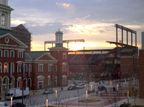Baltimore Orioles Stadium right in front of the convention center