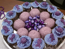 What better than purple cupcakes and purple snowballs for Epilepsy Day