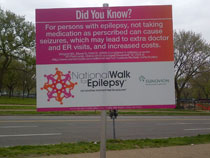 The National Walk for Epilepsy was lined with important information