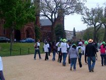 Walkers for epilepsy took in the beautiful architecture along the path