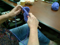 Knitting class: wellness program for our patients