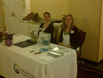 Team Northeast Regional Epilepsy Group information booth-Lesley and Monica