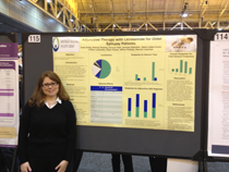 Melissa Flemming presenting at the American Academy of Neurology in New Orleans.