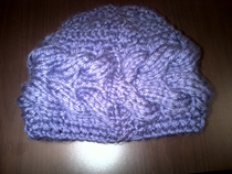 Cool purple hat for November epilepsy awareness month