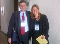 Drs. Marcelo Lancman and Lorna Myers at the epilepsy conference in Pereira, Colombia.