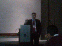 Dr.Marcelo Lancman speaking on extra temporal Epilepsy.