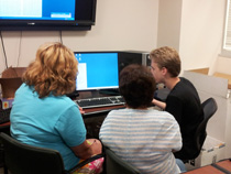 Epilepsy Group computer class learns how to use the computer toolbar