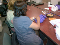 Epilepsy Knitting Club in our Hackensack NJ office