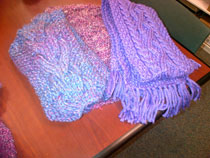 Purple Scarves and shawl for epilepsy