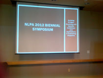 Drs. Bonafina and Myers presented at the 2012 Biennial NLPA conference symposium