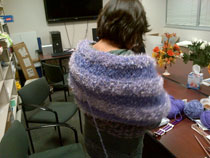 Fancy Purple shawl for epilepsy awareness