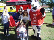 Epilepsy Group Team members with a mascot