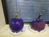 Busy hands made purple pumpkins