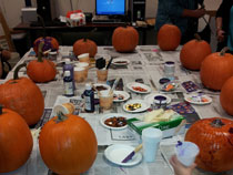 Pumpkins set up and ready to go
