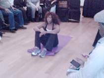 Pilates demonstration at Manhattan, NY