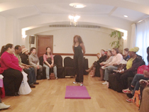 Renata Joy, certified personal trainer demos for conference